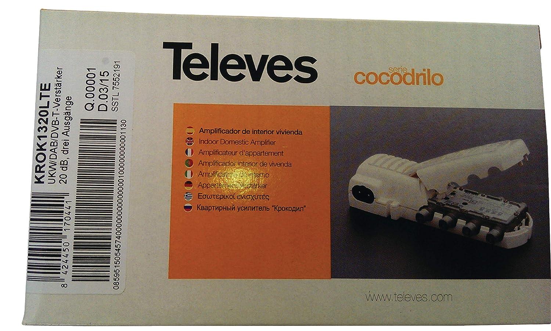 Televes 545740 - Amplificador vivienda 1e(2s+tv) cei 47.790mhz 20db: Amazon.es: Bricolaje y herramientas