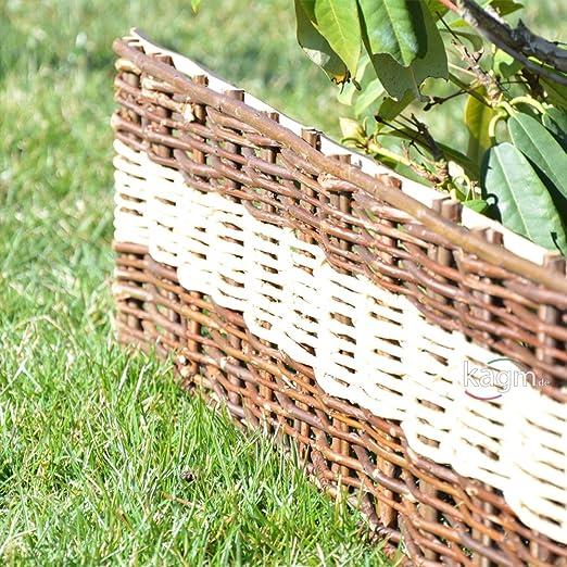 Bordure de parterre en palissade de jardin en bois tressé ...