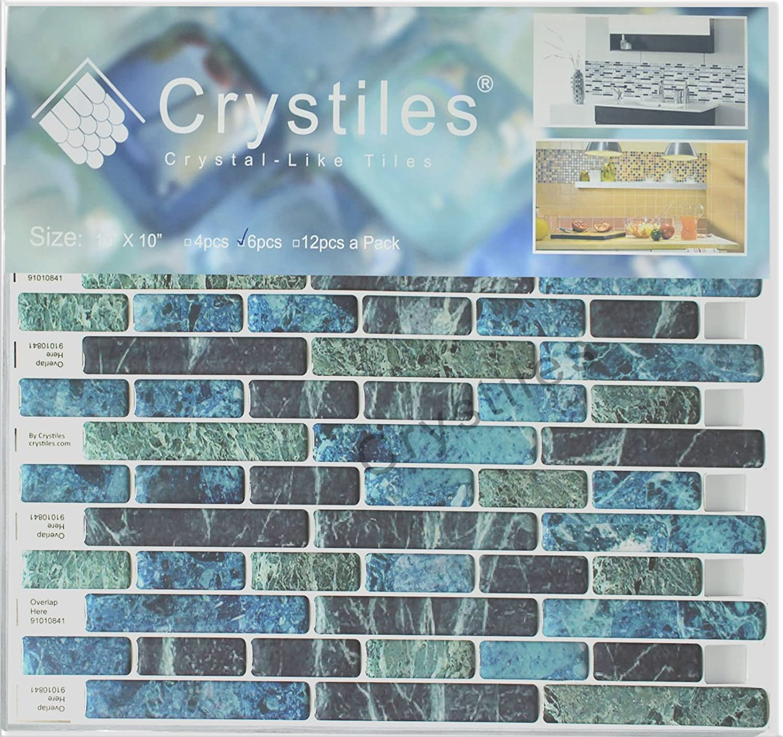 Amazon.com: Crystiles Peel and Stick Self-Adhesive DIY Backsplash ...