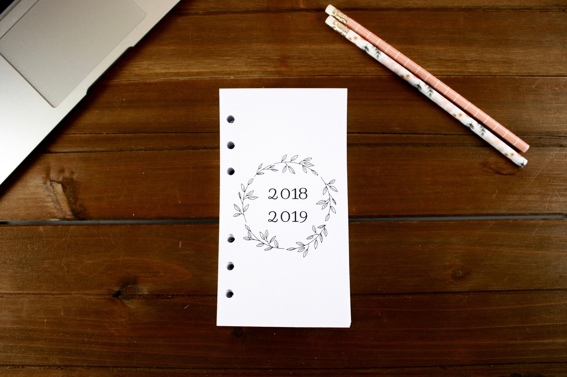Personal Size 18 Month 2018-2019 Weekly Refills (Dated JULY 2018-DECEMBER 2019), Personal Filofax 2018-2019 Refill Pages, Personal Weekly Refills, Carpe Diem, Color Crush, Kate Spade 2018-2019 Refills