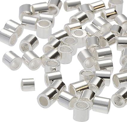 Black Oxide Gunmetal finish 2x2mm Crimp Tubes Beadsmith Crimp Tube beads 400pcs
