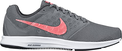 6b6a24f204a Nike Women s WMNS Downshifter 7 Cool Grey Lava Glow Running Shoes-4 UK
