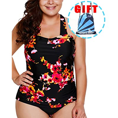 Garlagy Women's One Piece Swimsuits Plus Size Monokinis Swimwear Athletic Tankini