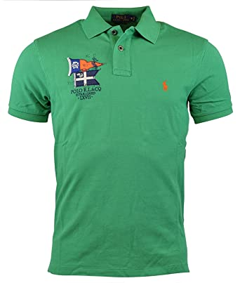 Polo Ralph Lauren Classic Fit PRL Yacht Club Mesh Shirt Victory Green  (Medium) 130ad06c23e4