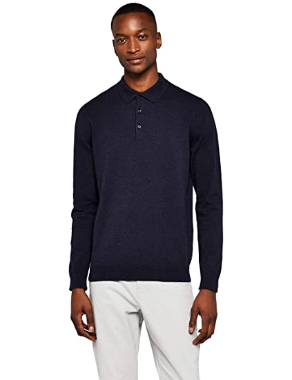 612bd8385a32 MERAKI Herren Pullover Long-Sleeve Polo  Amazon.de  Bekleidung