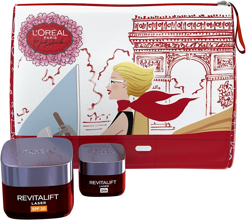 L'Oréal Paris Revitalift - Set Regalo para el Cuidado de la Piel , Crema Hidratante de Día + Tamaño de Viaje