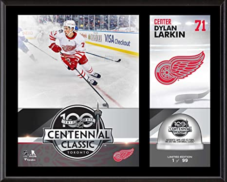 """06eb723cdd1 Image Unavailable. Image not available for. Color: Dylan Larkin Detroit Red  Wings 12"""" x 15"""" 2017 Centennial Classic ..."""