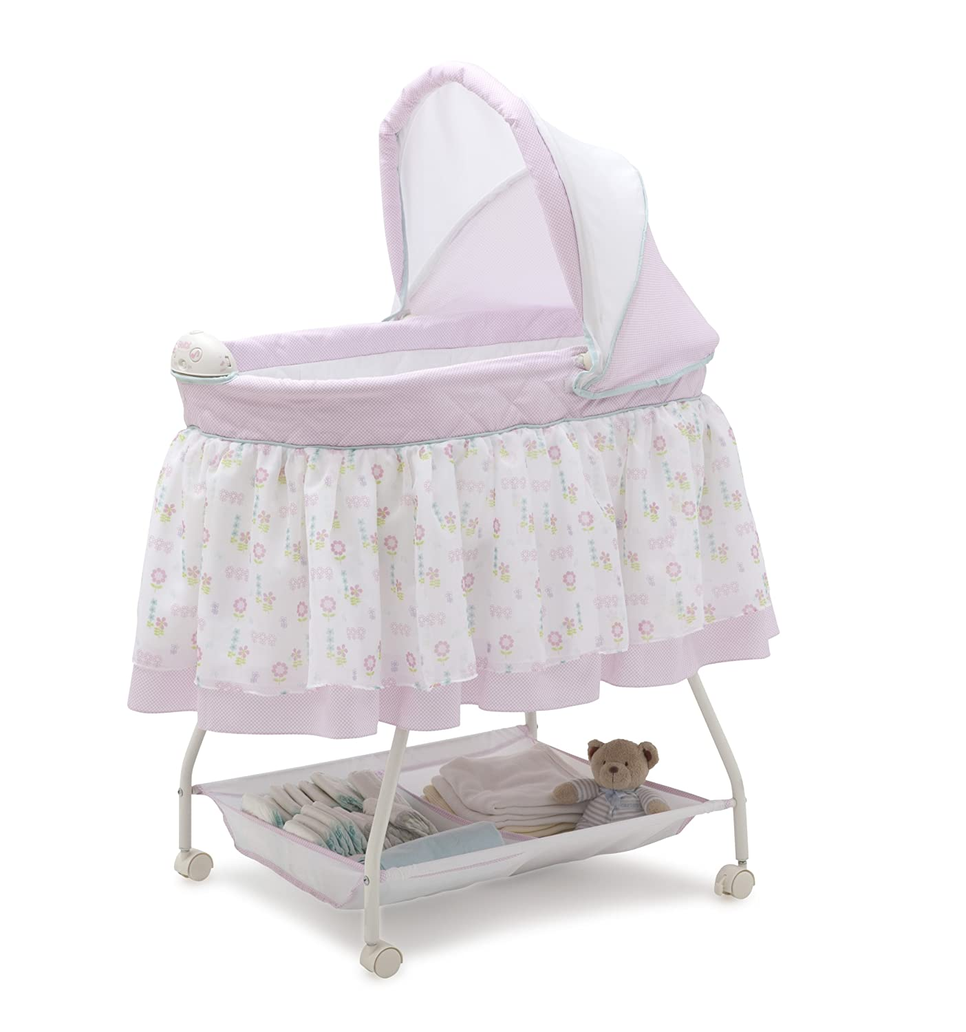 Delta Children Sweet Beginnings Bassinet, English Garden 25022-664