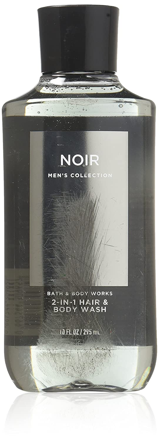 Bath & Body Works, Signature Collection 2-in-1 Hair + Body Wash, Noir For Men, 10 Ounce 667532660593