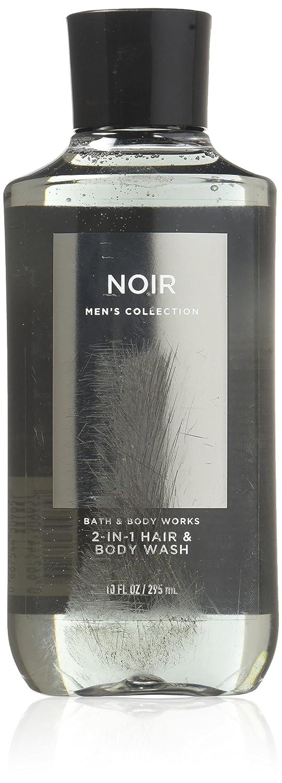Bath & Body Works Noir for Men 10.0 oz 2 in 1 Hair & Body Wash 667532660593