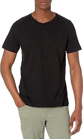 Organic Signatures Men's Short-Sleeve 100% Organic Cotton Lightweight Slub Henley Shirt