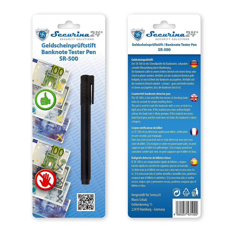 Bolígrafo detector de billetes falsos SR-500: Amazon.es: Bricolaje y herramientas