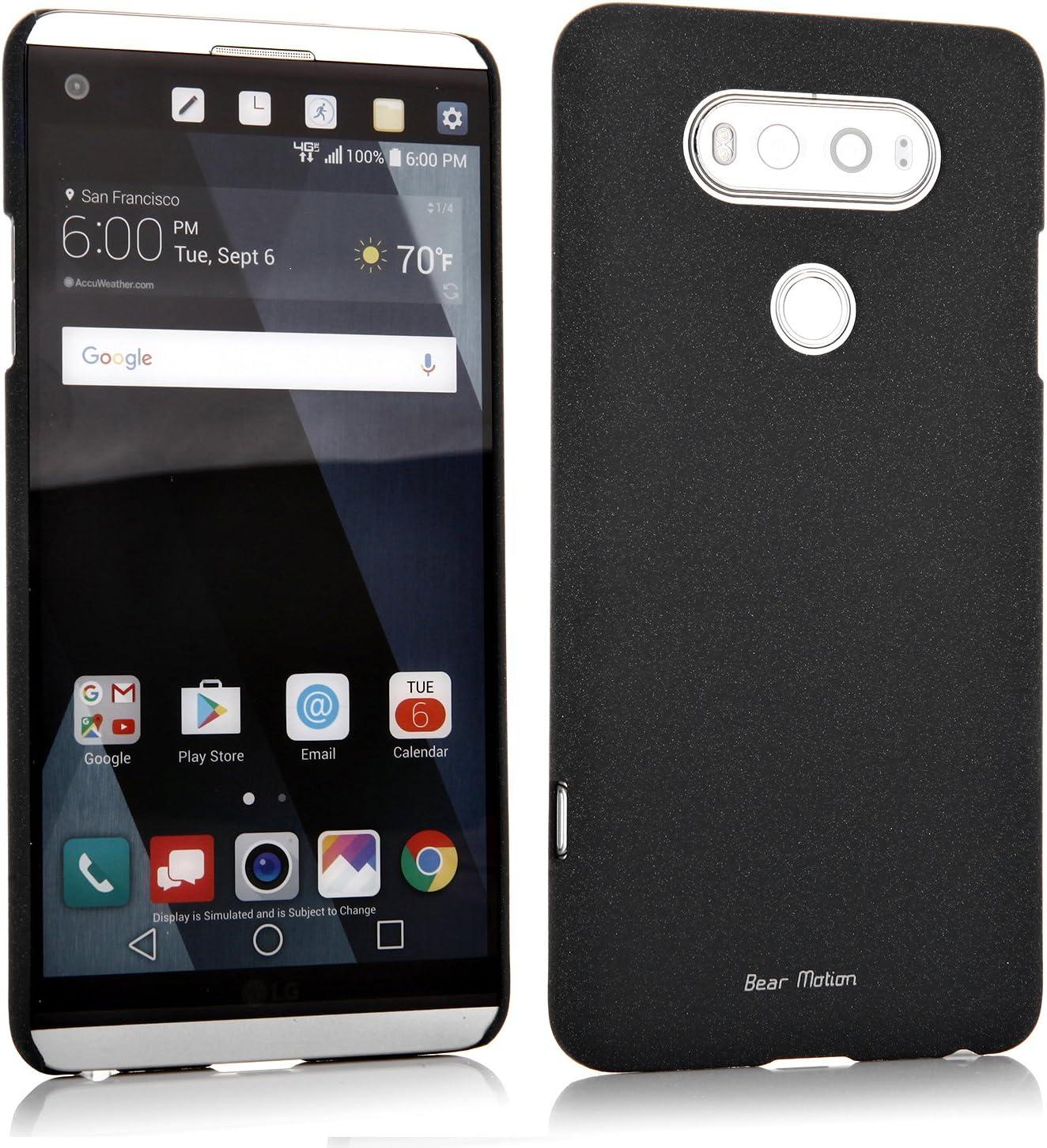 Slim Case for LG V20 Case - Bear Motion Premium Back Cover for LG V20 - Sandy (Black)