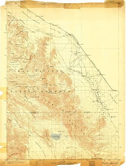 Amazon.com : YellowMaps Indio CA topo map, 1:125000 Scale, 30 X 30 ...