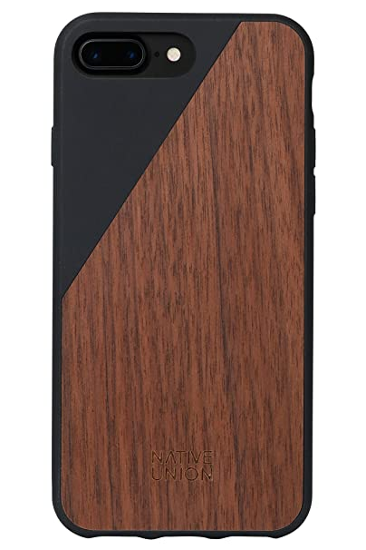 best service 0ed84 0a4b3 Native Union CLIC Wooden Case - Handcrafted Real Walnut Wood Drop-Proof  Slim Cover with Screen Bumper Protection for iPhone 7 Plus, iPhone 8 Plus  ...