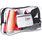 Extra-Large Capacity Clear Toiletry Travel Bag / Transparent Waterproof Leakproof / For Men and Women / Oversized (full…