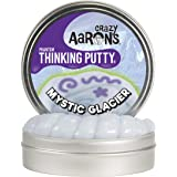 "Crazy Aaron's Thinking Putty 4"" Tin (3.2 oz) Mystic Glacier - Includes Glow Charger - Never Dries Out"