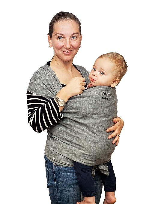 Fular Portabebé Bebé Infantil Recién Nacido Portador De Bebé | De 0 Meses A 3 Años Hasta 15 Kg | Ecológica Algodón Transpirable | Sling ...