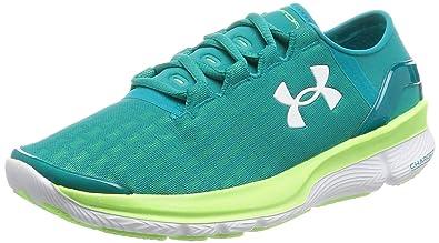 Under Armour Women s UA Speedform Apollo 2 Clutch Tahitian  Teal Limelight White Sneaker 8.5 8abe6ff19