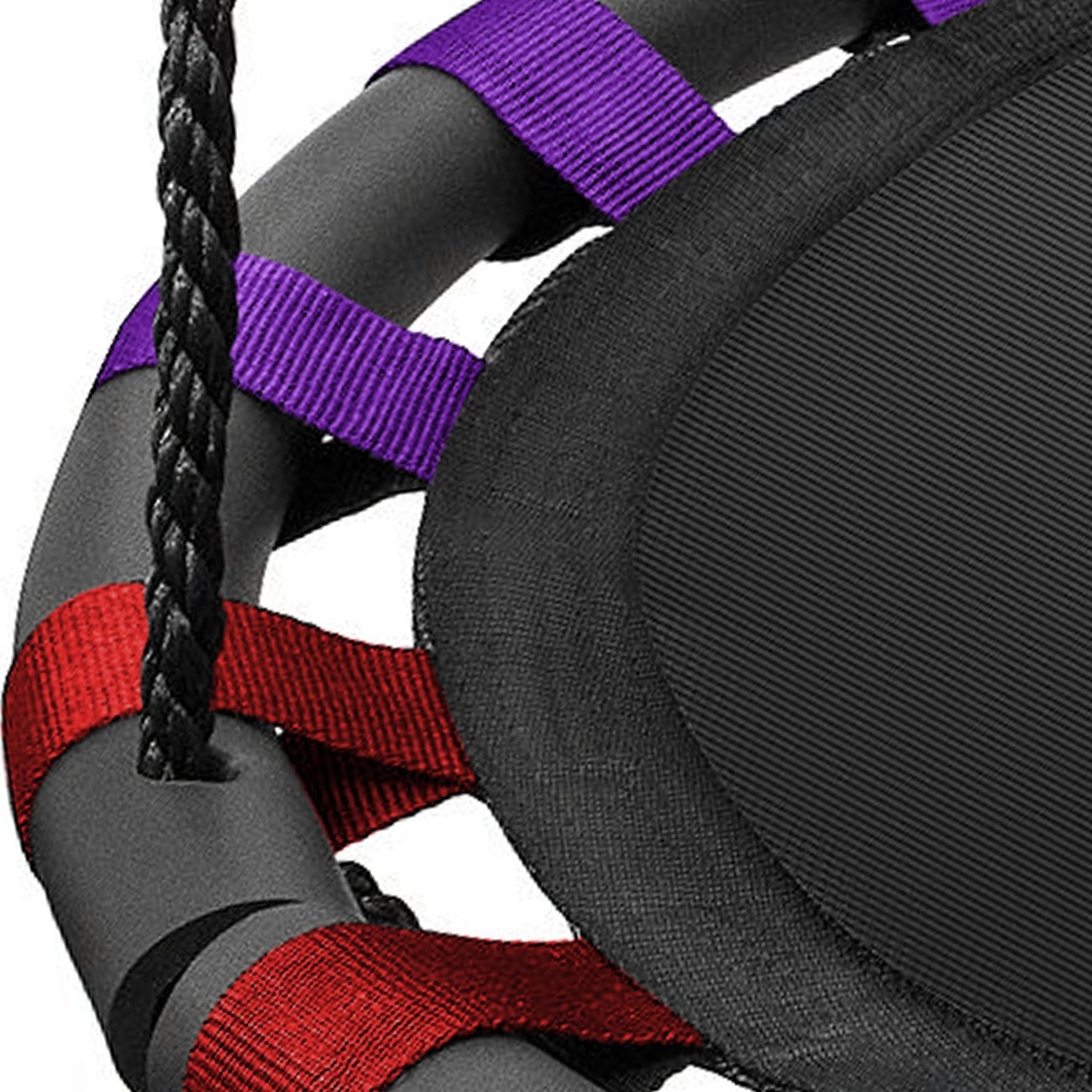 Sorbus Spinner Swing – Kids Indoor/Outdoor Round Mat Swing – Great for Tree, Swing Set, Backyard, Playground, Playroom – Accessories Included (24 Inch, Multi-Color Mat Seat)