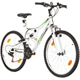 Multibrand, PROBIKE EXTREME, 26x17 430 mm, 26 inch, Mountain Bike, 18 speed, Unisex, Front and Rear Mudguard, White Gloss