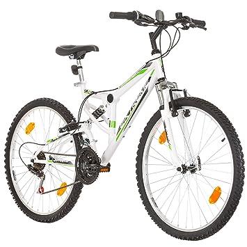 26 Pulgadas, CoollooK, EXTREME, Unisex, bicicleta de montaña,Doble Suspensión, 18 Velocidades, Llantas MACH1, Blanco-Brillo: Amazon.es: Deportes y aire ...