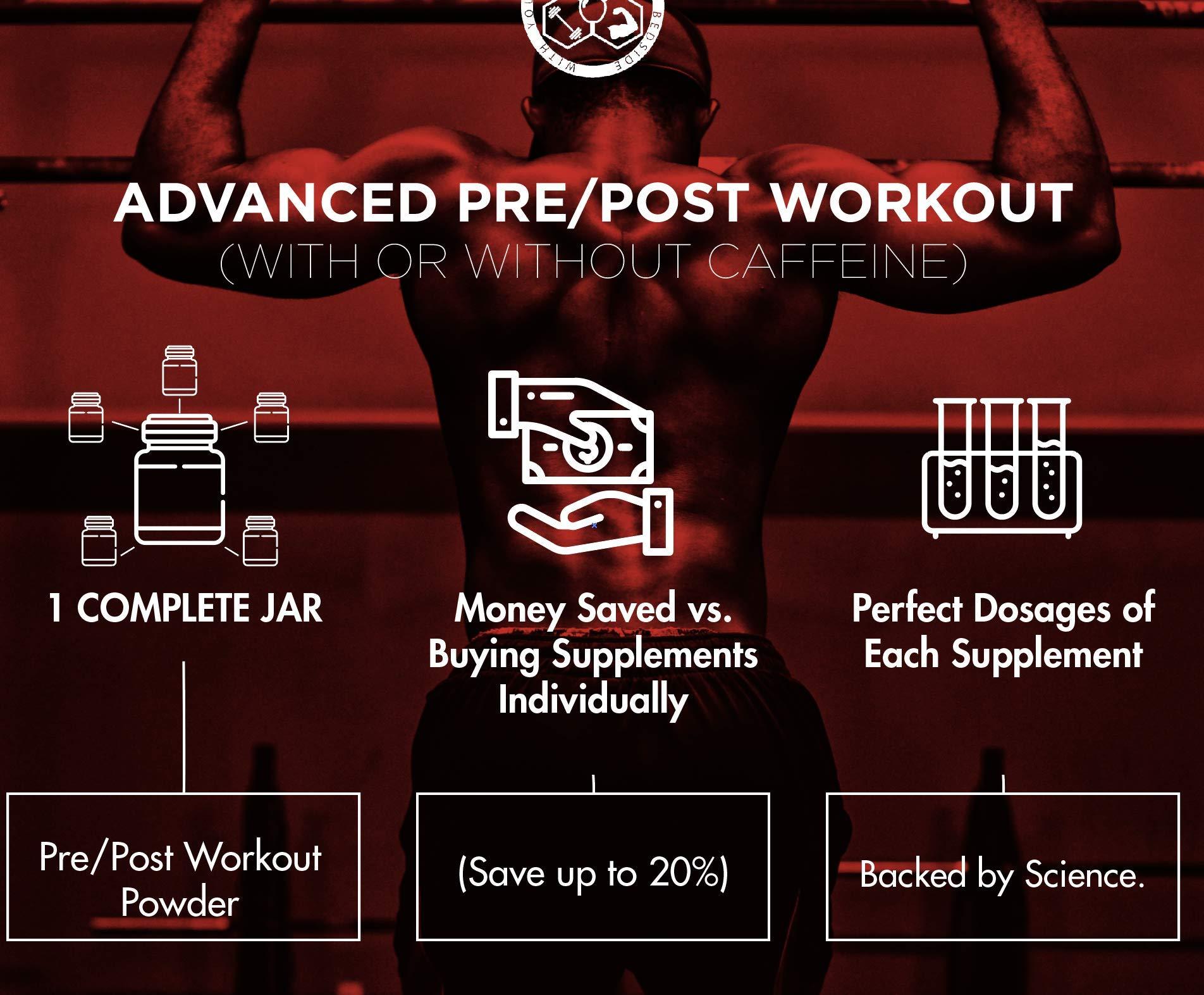 Barbell Medicine, Peri-Rx Post & Pre-Workout Powder, BCAA, Creatine Monohydrate, Beta Alanine, Citrulline Malate, HMB, Betaine Anhydrous, Caffeine Free, Watermelon, 687g by GainzZz Rx (Image #6)