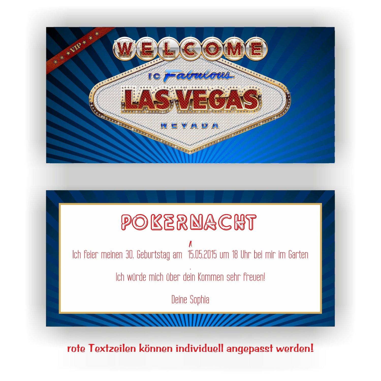 Invitación para cumpleaños Casino Las Vegas I Tarjetas de ...