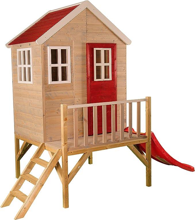 Niños casa de Juguete en Platform | Niños Madera Parte Jardín Casa ...