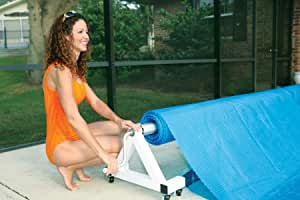 Deluxe Low Profile In Ground Pool Solar Cover Reel - 12-16 Feet Wide