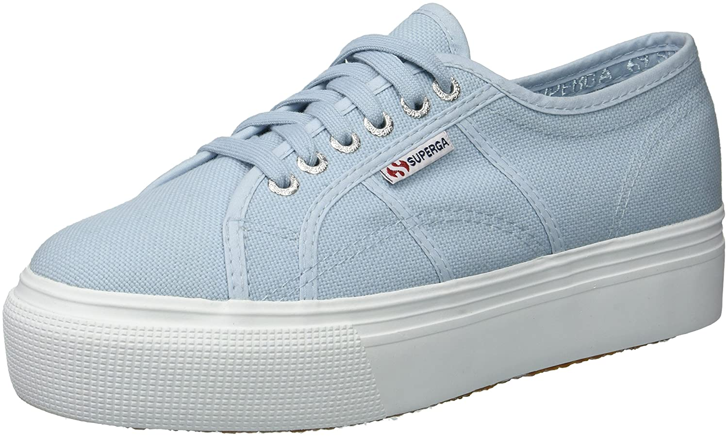 Superga Women's 2790 Acotw Fashion Sneaker B0789SSGWH 41.5 M US|Dusty Blue