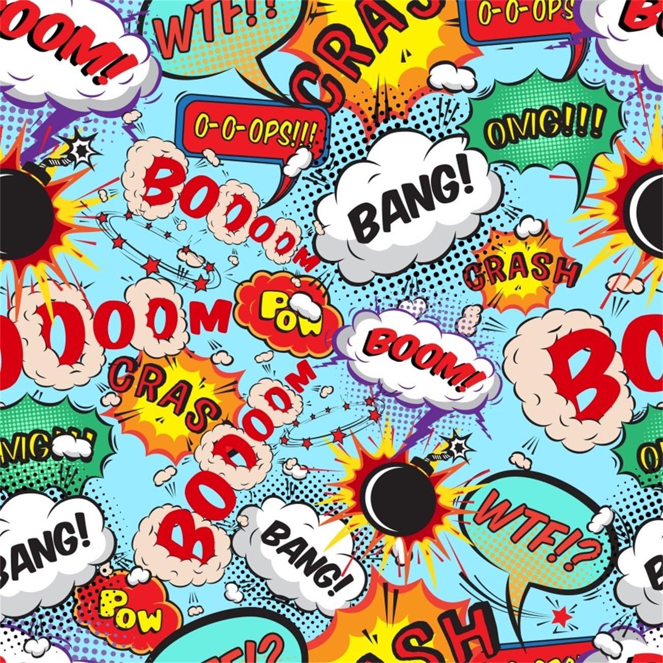 Aofoto 5 X 150 Cartoon Bomb Explosion Sound Muster Kamera