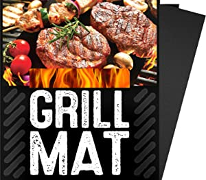 "BBQ Grill Sheets Mat ,100% Non Stick Safe ,Extra Thick,Reusable and Dishwasher safe, 3 piece of (13""x15.75"")"