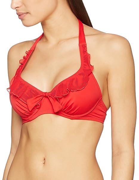 Pour Moi Womens Splash Halter Underwired Top Bikini