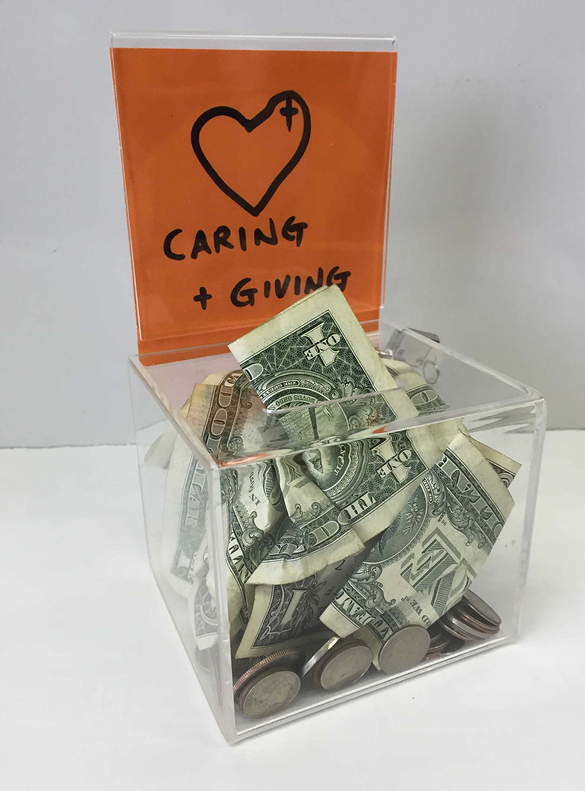Fixture Displays 24 pcs Plexiglass Acrylic Donation Box Fund-raising Charity Collection 11040-24
