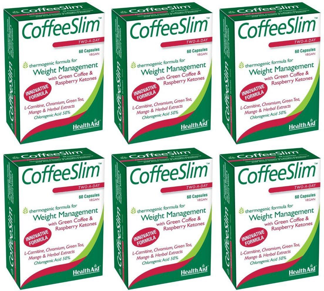 (6 PACK) - HealthAid - Coffeeslim | 60 Vegicaps | 6 PACK BUNDLE