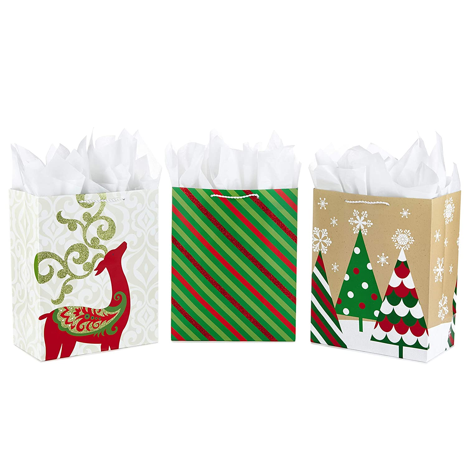 Bright Icons, 2 Pack Hallmark Holiday Large Christmas Gift Bags
