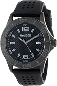 "Haurex Italy Men's 3N500UJN\""Factor\"" Black Coated Stainless Steel Sport Watch"