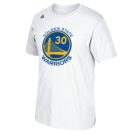 f85e89fb866bd adidas Stephen Curry Golden State Warriors White Jersey Name and Number  T-shirt
