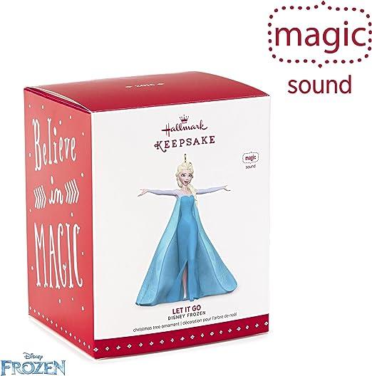 Hallmark Magic Ornament Disney Animated Frozen Let It Go Queen Elsa 2015 Sound