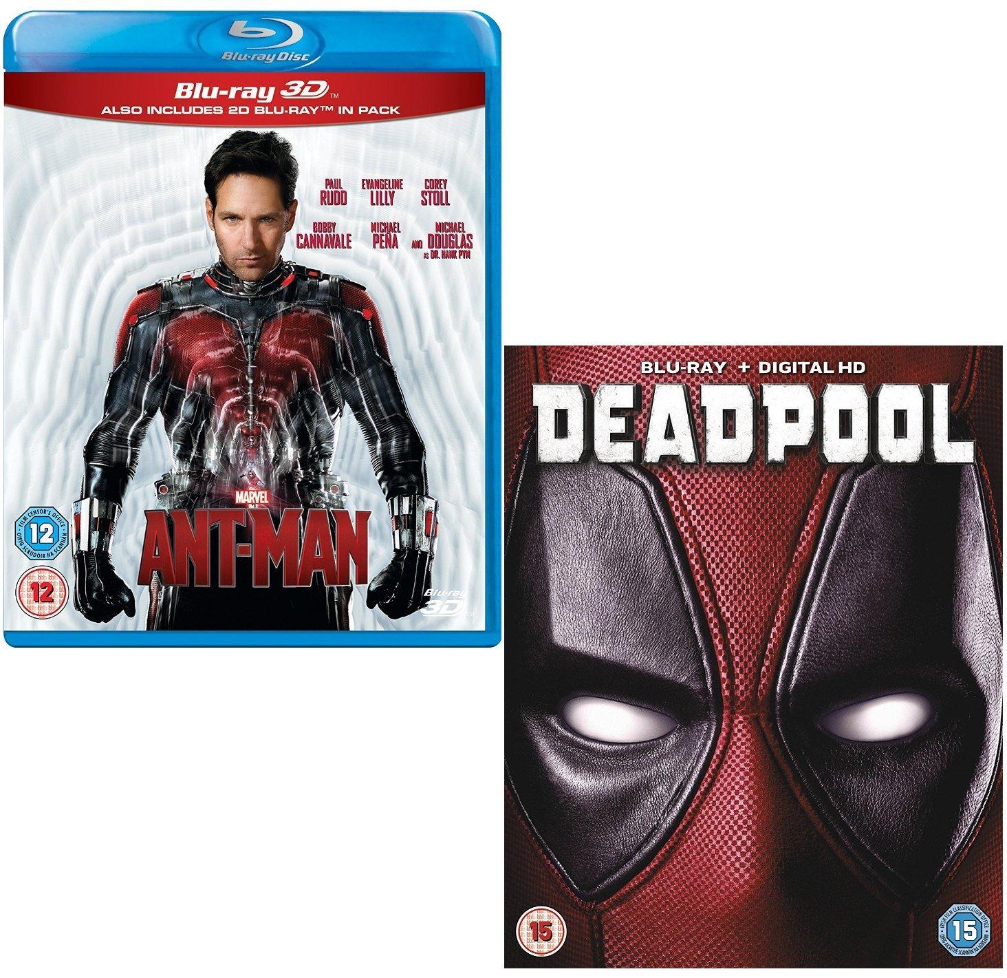 Amazon Com Ant Man 3d 2d Deadpool 2 Movie Bundling Blu Ray Movies Tv