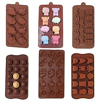 6 unidades Antiadherente valor unidades moldes de bebé juguetes, cara sonriente Emoji, dinosaurio,