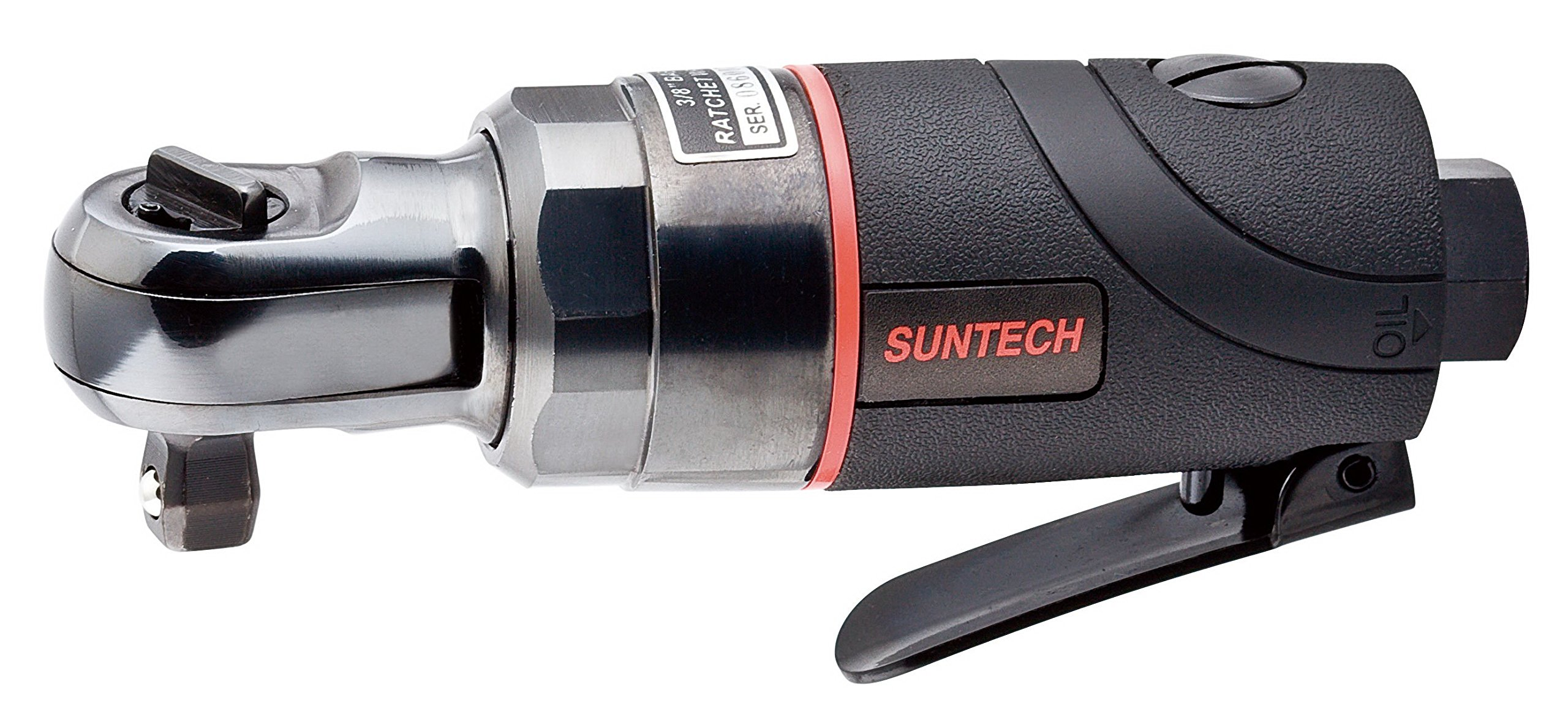 SUNTECH SM-33-3015 Air Ratchet Wrench with Composite Type, Black, 3/8''