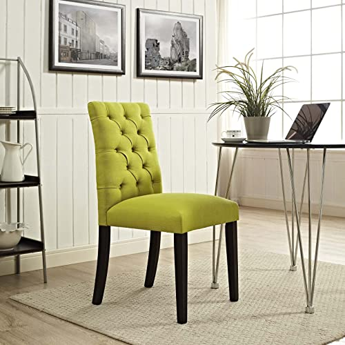 Modway MO-EEI-2231-WHE Duchess Modern Tufted Button Upholstered Fabric Parsons, Dining Chair, Wheatgrass