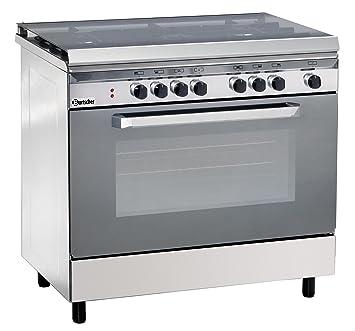 cucina a gas 5 fuochi con forno elettrico multifuzione bartscher 1509511