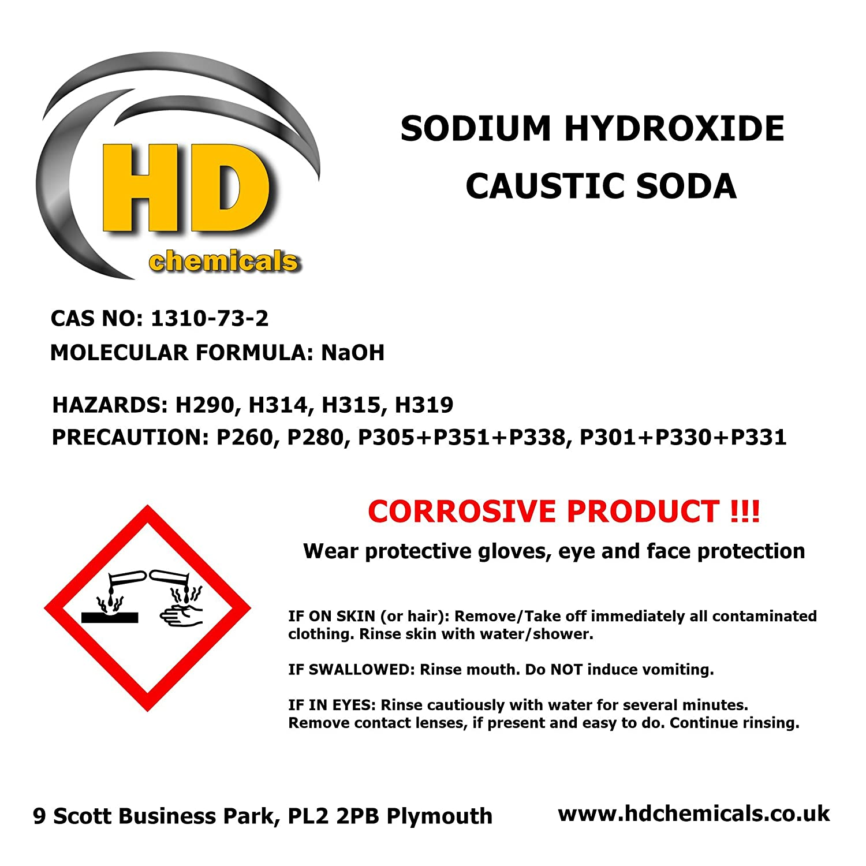 Soda Caustica/Hidróxido de sodio, 99% microperlas de grado, corredor de día neto, solo en Reino Unido, 5 kg, 10 kg, 15 kg, 20 kg, 1: Amazon.es: Industria, ...