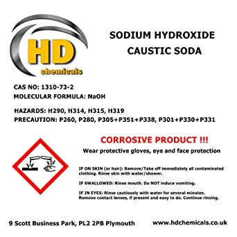 CAUSTIC SODA 99% Grade Micropearls Drain Cleaner,Sodium Hydroxide FREE  COURIER (5g sample, 1)