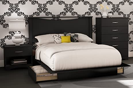 South Shore Bedroom Set Step One Collection, Black, 4 Piece