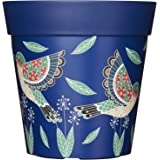 Rosa blu e verde fioriere vasi da fiori, colorato, per esterni, da giardino vasi vaso in plastica, 22cm, 20,3cm