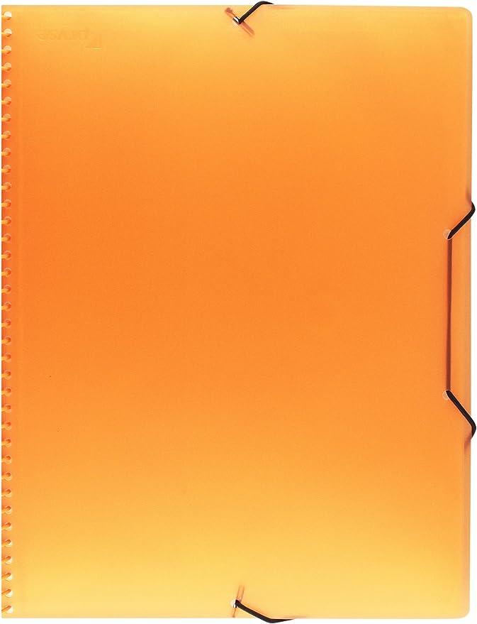 Pryse 4240065 Carpeta espiral con 60 fundas color naranja A4